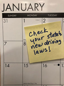 Check your state's new driving laws for 2018.